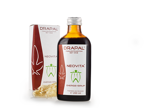 NEOVITA ® Energy syrup. With ginseng, lecithin, niacin and vitamin E